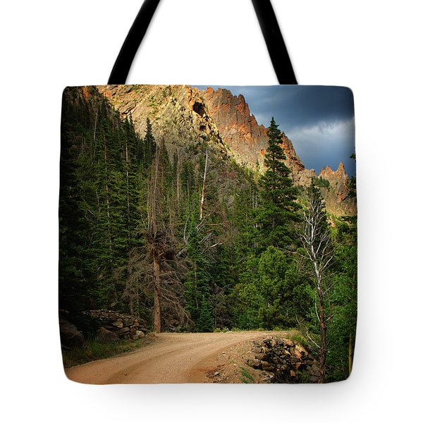 Tote Bag featuring the photograph Light Dancing by John De Bord