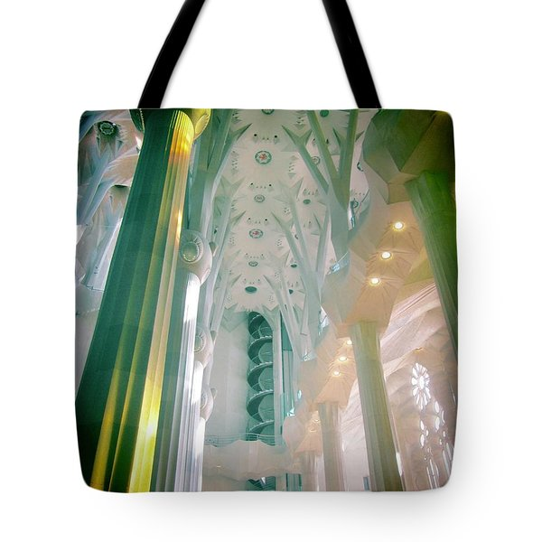 Light Dancing On The Ceiling Tote Bag by Christin Brodie