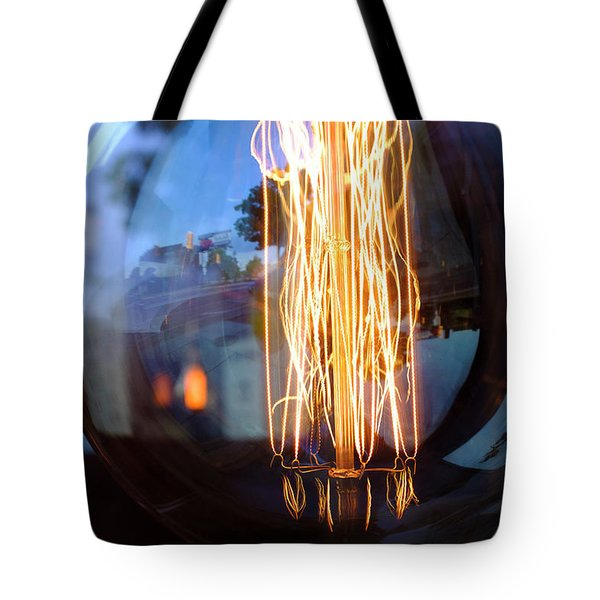 Light Elements Bulb In Detroit Michigan Tote Bag