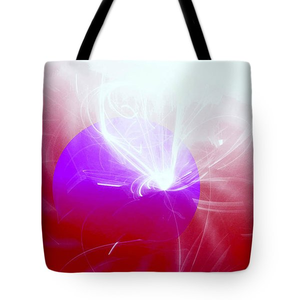Tote Bag featuring the digital art Light Emerging by Ute Posegga-Rudel