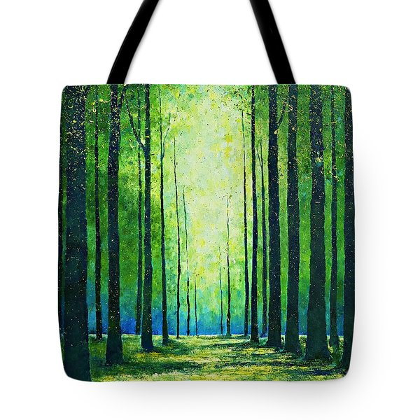 Light From Green Tote Bag