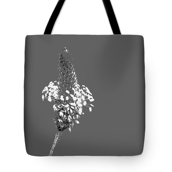 Light Grey Plantain Tote Bag
