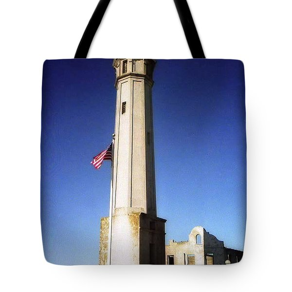 light house Alcatraz SF bay area Tote Bag