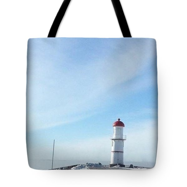 light house in montreal - canal Lachine Tote Bag