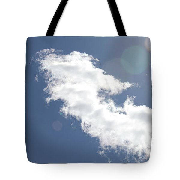 Light In Cloud Flare Tote Bag
