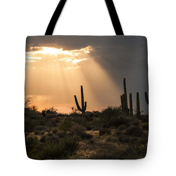 Light In The Desert Tote Bag