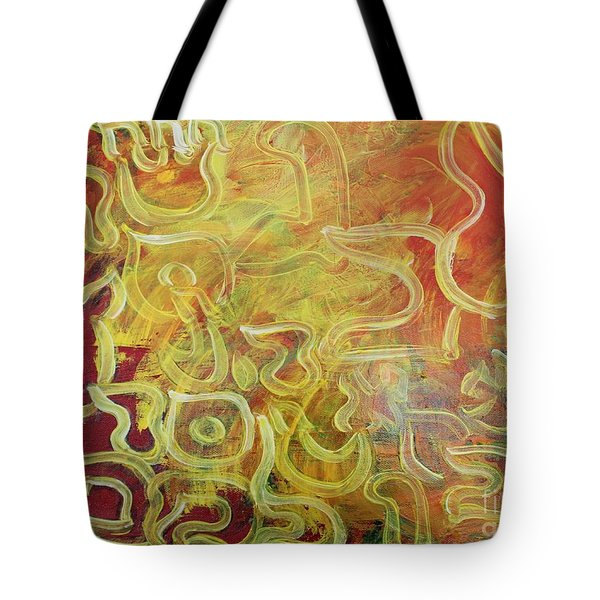 Light In The Letters Ab25 Tote Bag