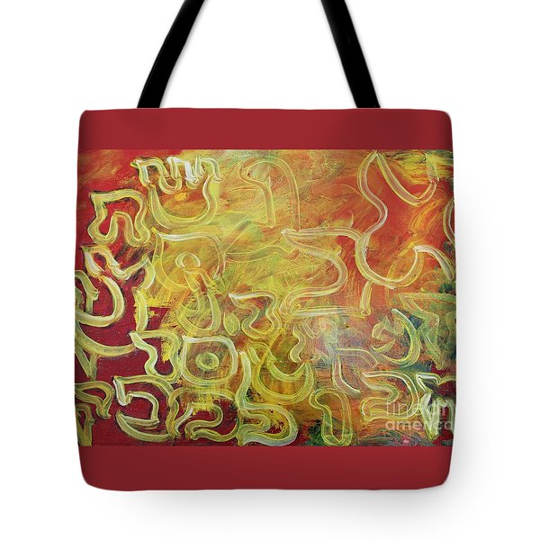 Light In The Letters Tote Bag