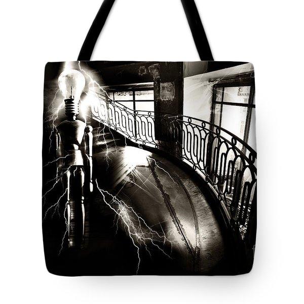 Tote Bag featuring the digital art Light by Nola Lee Kelsey