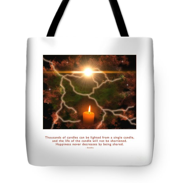 Tote Bag featuring the photograph Light Of A Single Candle by Kristen Fox