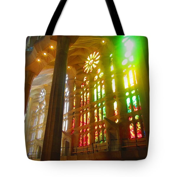 Light Of Gaudi Tote Bag by Christin Brodie