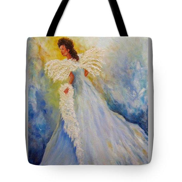 Light Of Grace,angel Tote Bag