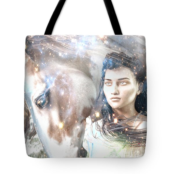 Tote Bag featuring the painting Light Of The Mohawks by Suzanne Silvir