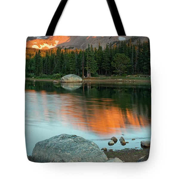 Tote Bag featuring the photograph Light Of The Mountain by John De Bord