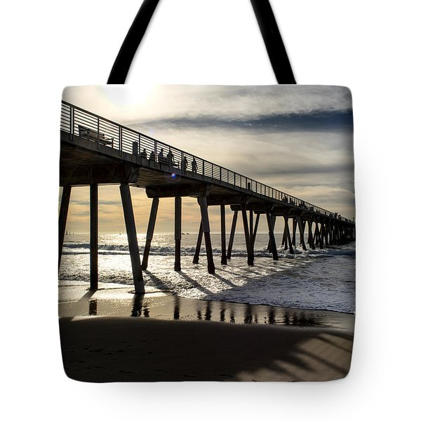 Light Of The Pier  Tote Bag
