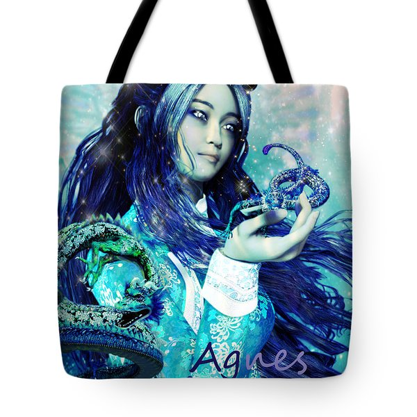 Tote Bag featuring the painting Light Of Vietnam Saint Agnes by Suzanne Silvir