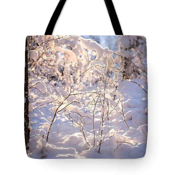 Tote Bag featuring the photograph Light Of Winter by Rose-Maries Pictures