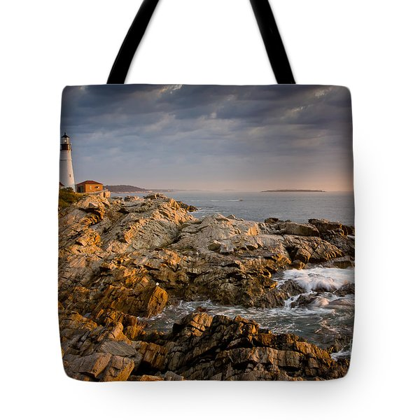 Light On Portland Head Tote Bag
