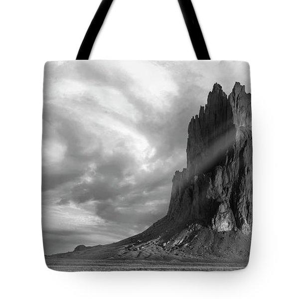 Light On Shiprock Tote Bag by Jon Glaser