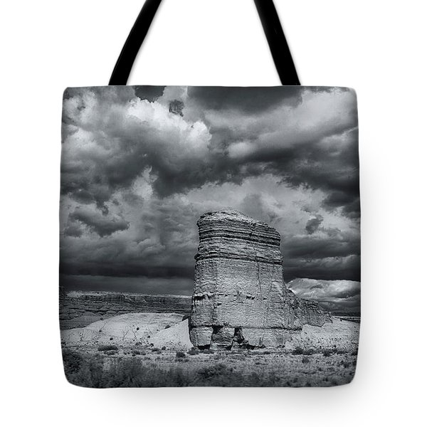 Tote Bag featuring the photograph Light On The Rock by John A Rodriguez