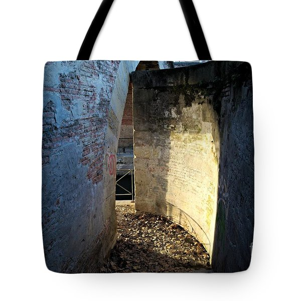 Tote Bag featuring the photograph Light On The Wall by Cendrine Marrouat