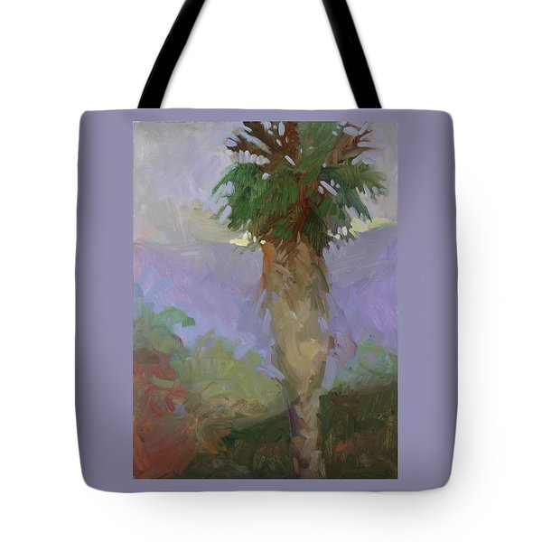 Light On Yonder Hill  Tote Bag