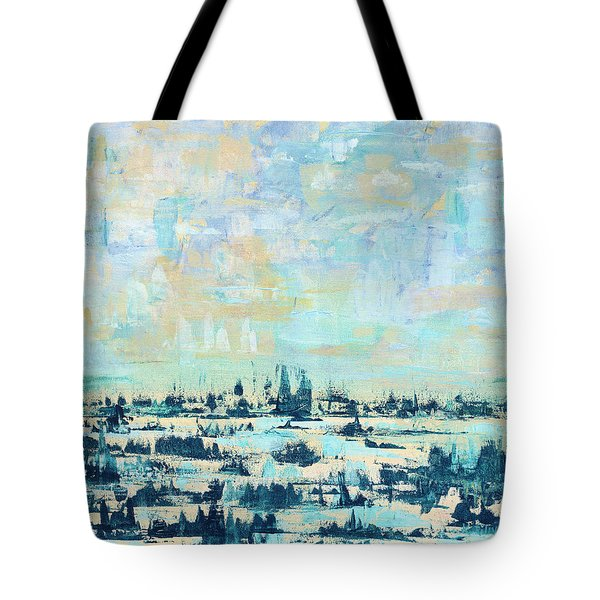 Tote Bag featuring the painting Light Over Broad Creek by Kathryn Riley Parker