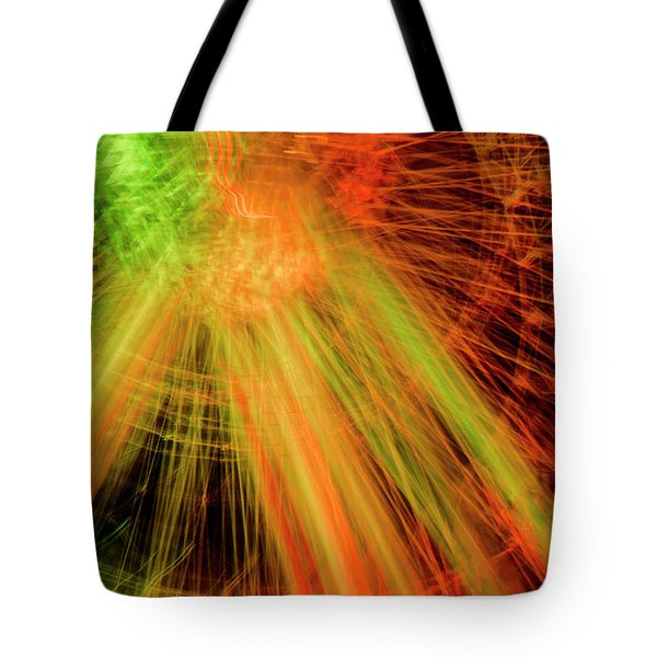 Light Painting At Night Tote Bag