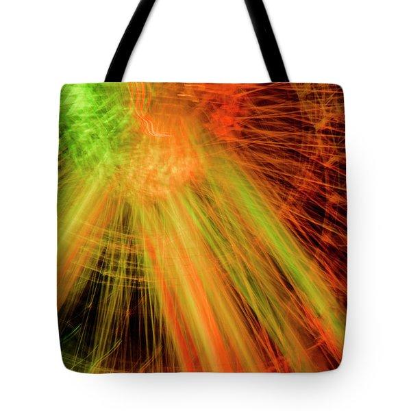Light Painting At Night Tote Bag