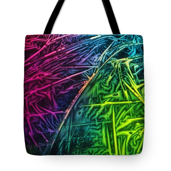 Light Painting Colors Abstract Experimental Chemiluminescent Photography Tote Bag