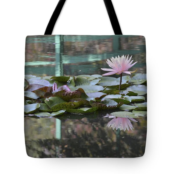 Light Pink Water Lily Tote Bag by Linda Geiger