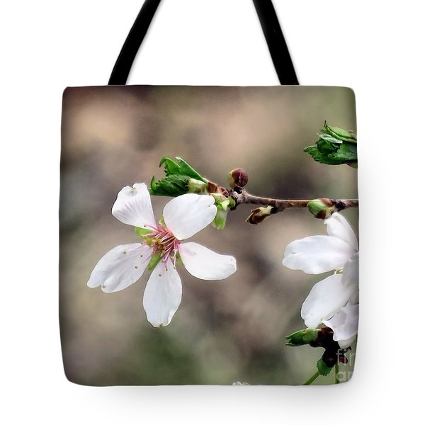Light Pink Weeping Cherry Blossom Tote Bag by Janice Drew