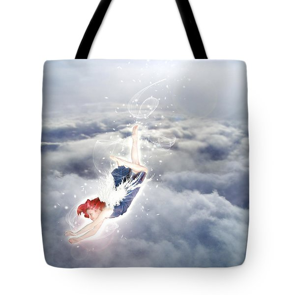 Light Play Angels Descent Tote Bag by Nikki Marie Smith