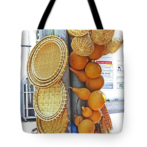 Tote Bag featuring the photograph Light Pole Shop by Gregg Cestaro