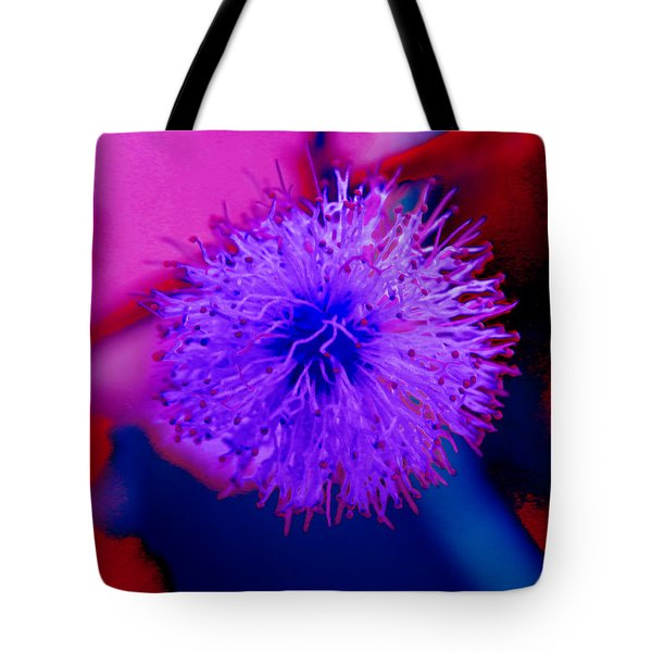Light Purple Puff Explosion Tote Bag by Samantha Thome
