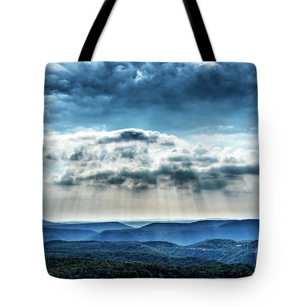 Tote Bag featuring the photograph Light Rains Down by Thomas R Fletcher