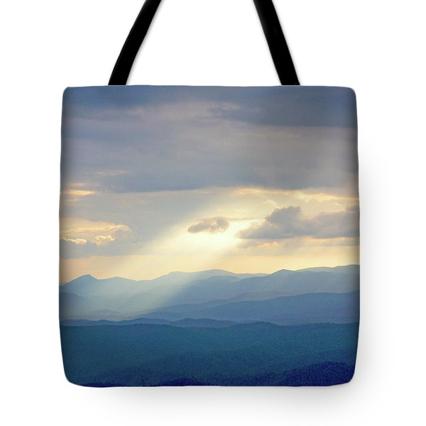 Light Ray Sunset Tote Bag by Meta Gatschenberger