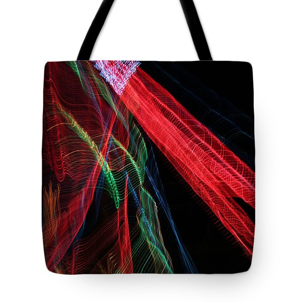 Light Ribbons Tote Bag