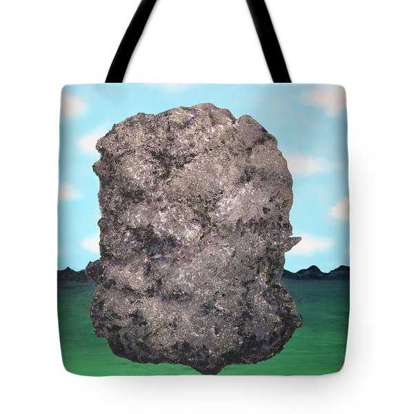 Tote Bag featuring the painting Light Rock by Thomas Blood
