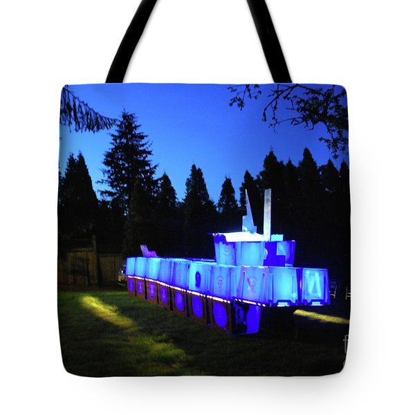 Tote Bag featuring the photograph Light Sculpture by Bill Thomson
