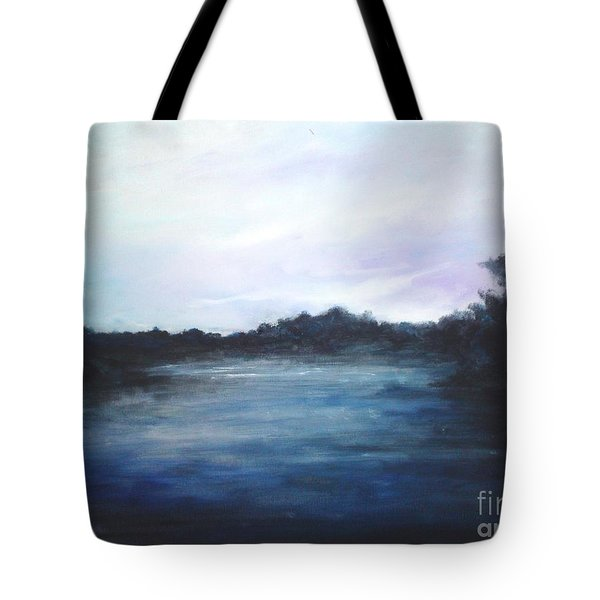 Tote Bag featuring the painting Light Sky by Rushan Ruzaick