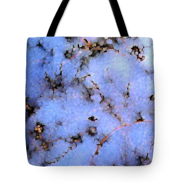 Light Snow In The Woods Tote Bag by Dave Martsolf