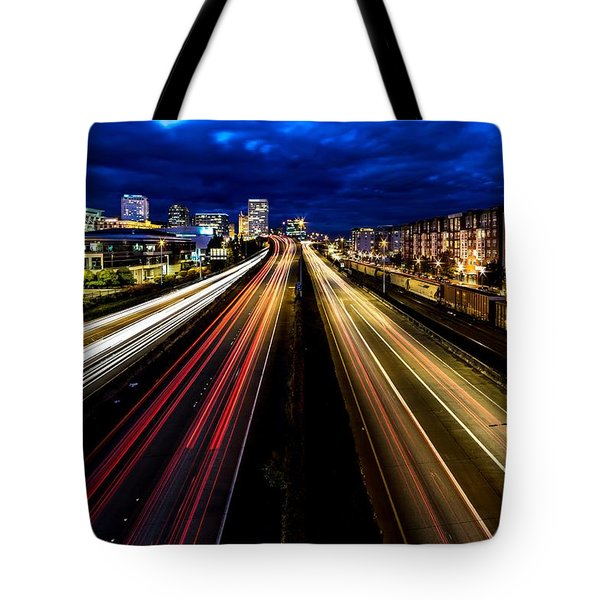 Light Streaks On 705 Tote Bag