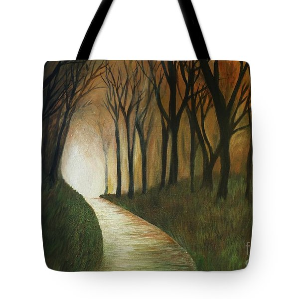 Light The Path Tote Bag by Christy Saunders Church