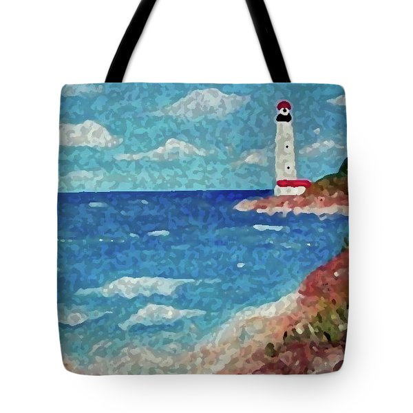 Tote Bag featuring the painting Light The Way by Sonya Nancy Capling-Bacle