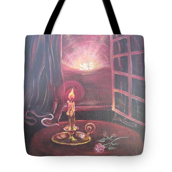 Light The Yes Candle Tote Bag
