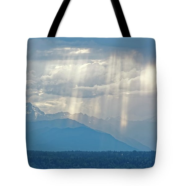 Light Through Clouds Tote Bag