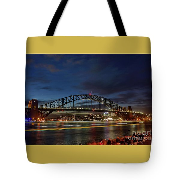 Light Trails On The Harbor By Kaye Menner Tote Bag by Kaye Menner