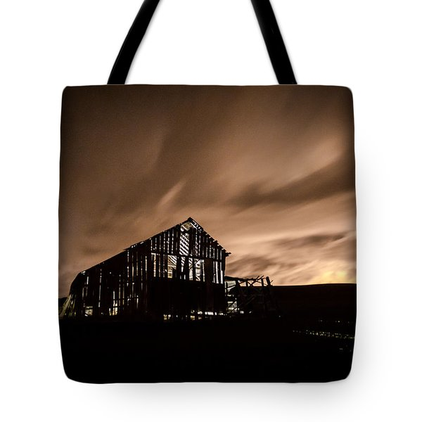 Lighted Barn Tote Bag by Brad Stinson