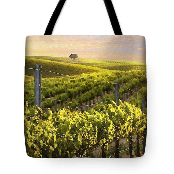 Lighted Vineyard Tote Bag by Sharon Foster